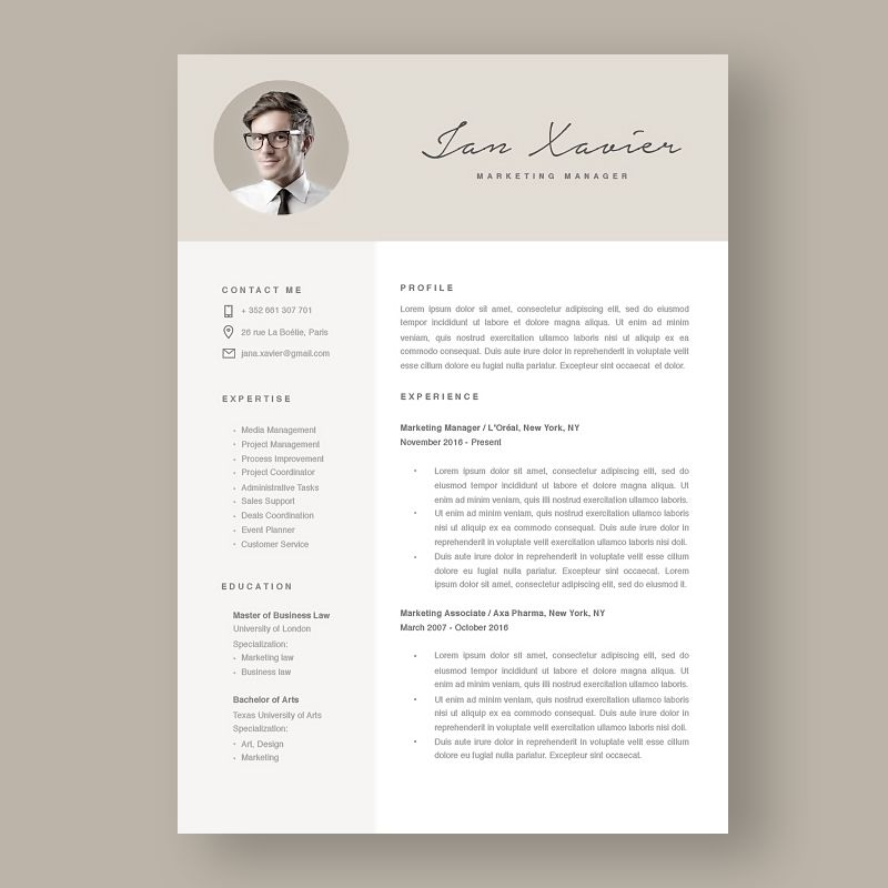 NEW TEMPLATE RT 120100 - An awesome #resume template helps to - html resume
