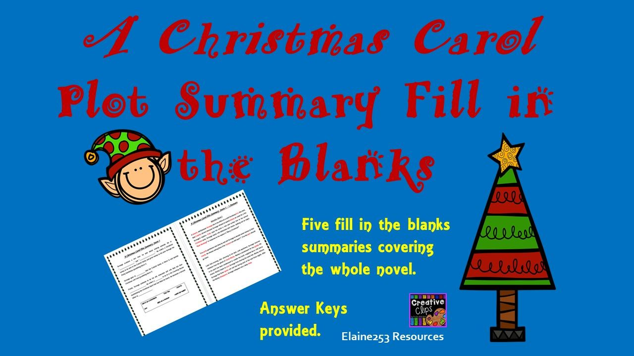 A Christmas Carol Summary.A Christmas Carol Summary Fill In The Blanks Worksheets