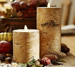 Pottery Barn Flameless Candles Unique Thanksgiving Decorating  Tabletop Ideas Flameless Birch Pillar