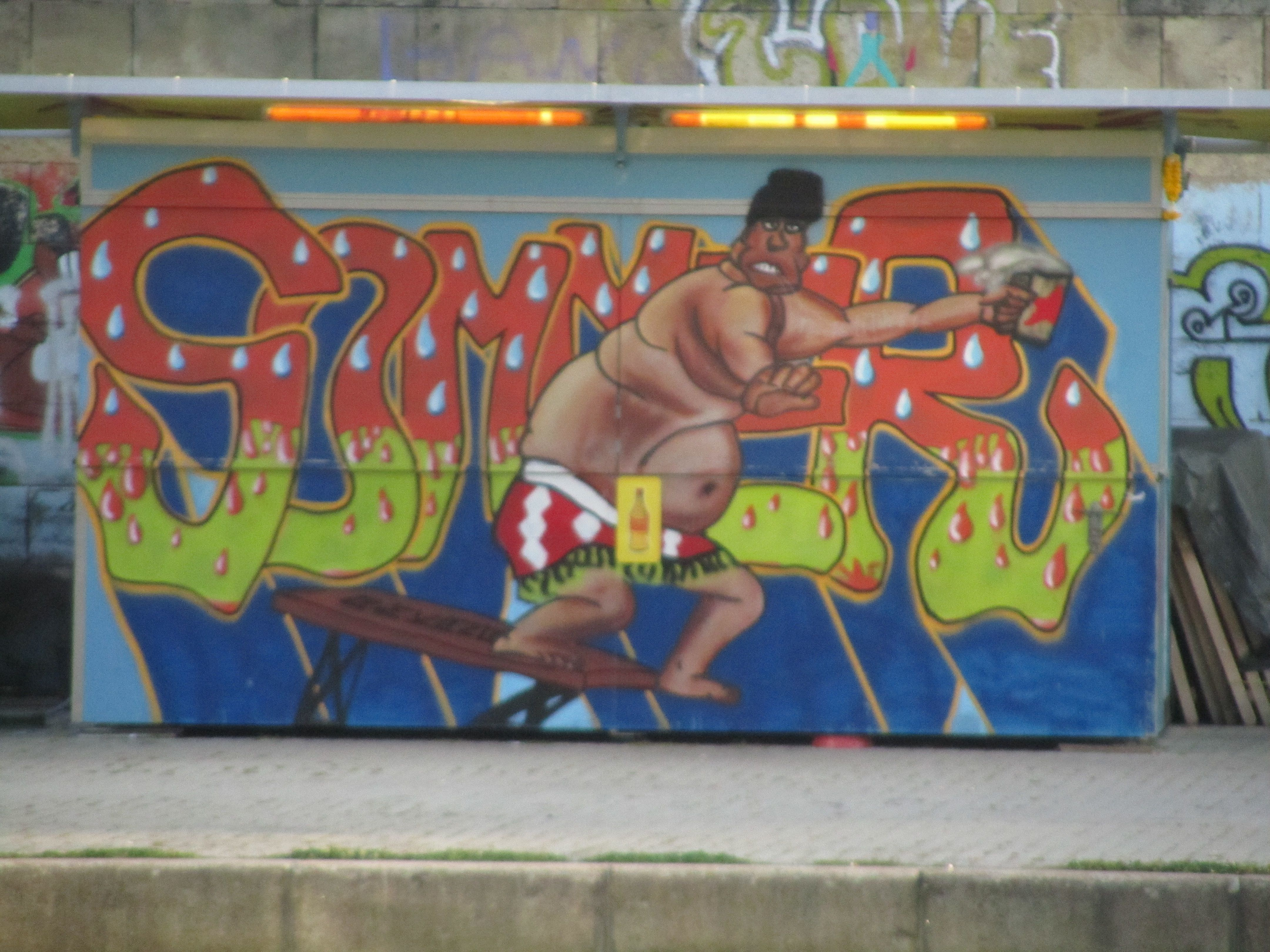 Graffito Donaukanal Wien