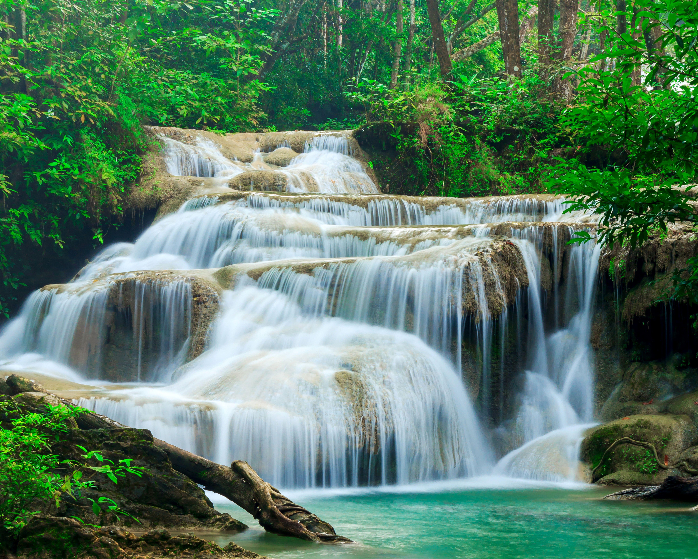 Wallpapermisc Waterfall In Thailand Hd Wallpaper 1 6000 X 4800 Free Top High Quality Desktop Wallpaper In 4k And Hd Fo Waterfall Wallpaper Forest Waterfall