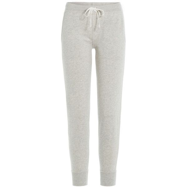 Polo Ralph Lauren Cotton Sweatpants ($83) ❤ liked on Polyvore featuring activewear, activewear pants, grey, polo ralph lauren, long sweatpants, long sweat pants, cotton sweat pants and gray sweat pants