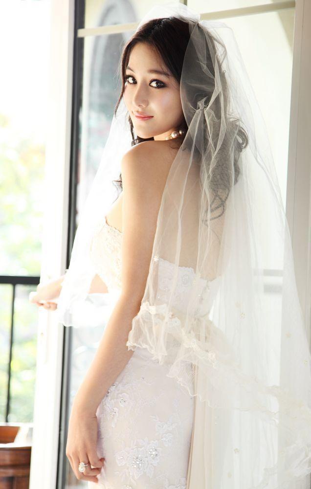 Sexy asian girl bride