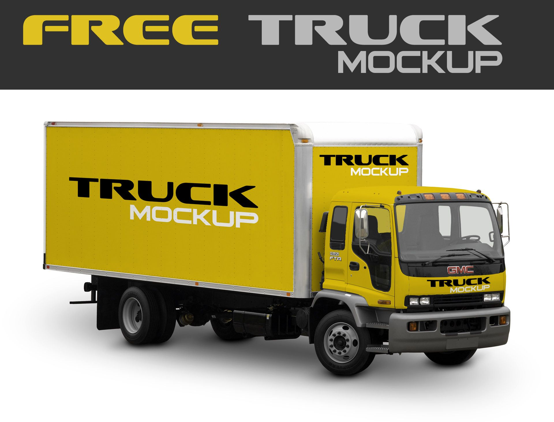 """Download Check out this @Behance project: """"Free Mock-Up Truck Cargo ..."""