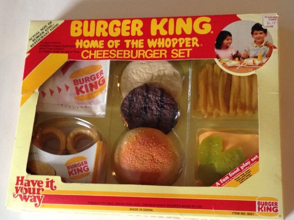 Multiple Toymakers Quot Burger King Quot Cheeseburger Set Play