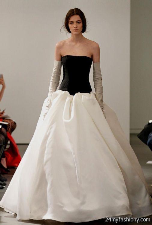 Spectacular black and white wedding dresses vera wang BB Fashion