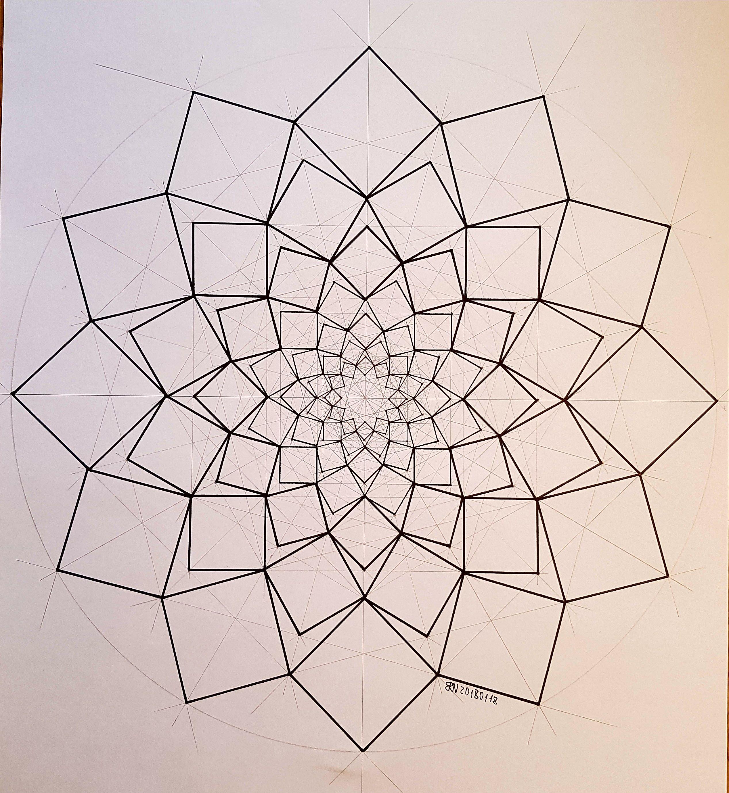 Geometry Symmetry Fractal Square Circle Disk Mathart Regolo54 Progession Evolution Sacred Geometry Art Geometry Art Geometric Drawing