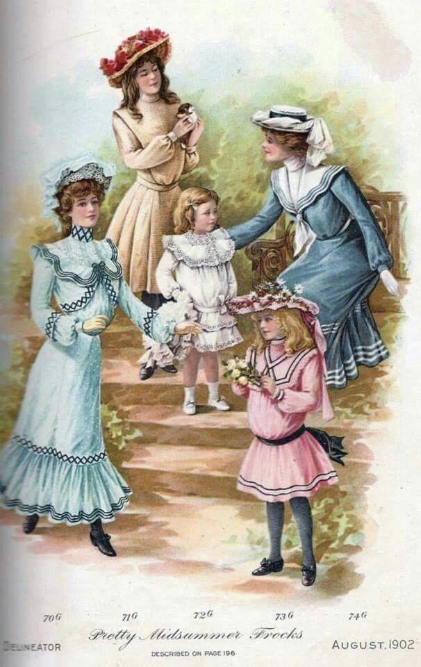 1902 Children S Fashion Childrens Fashion Vintage Childrens Clothing Historical Fashion