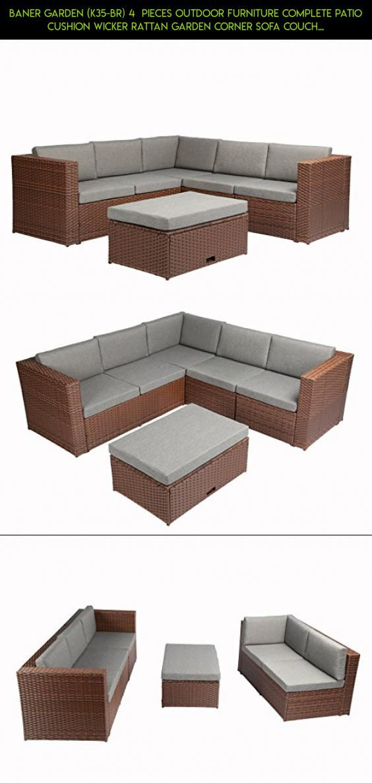 Baner Garden K35 BR 4 Pieces Outdoor Furniture plete Patio
