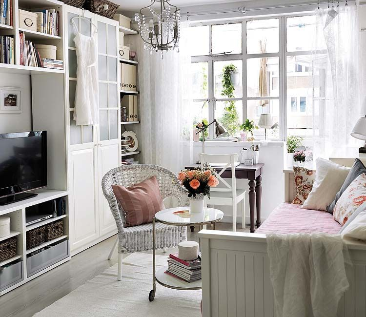 surprising ikea living room office design ideas | Great ikea built in and daybed turn living room into guest ...