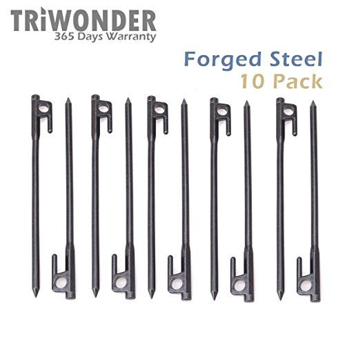 Triwonder 10 Pack Burly Forged Steel Tent Stakes Solid Stakes Footprint Casting Pegs u003eu003eu003e  sc 1 st  Pinterest & Triwonder 10 Pack Burly Forged Steel Tent Stakes Solid Stakes ...