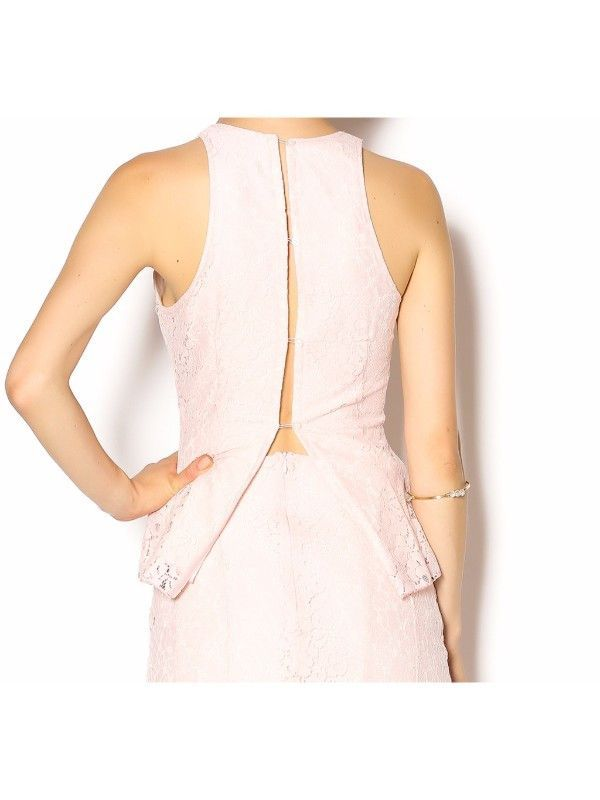 Michelle Hebert Pink Lace Tank 4/6 NWT