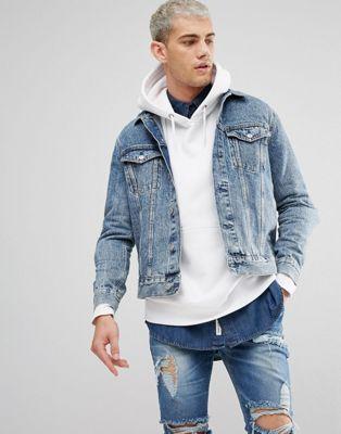 Weekday Single Denim Jacket WD Blue
