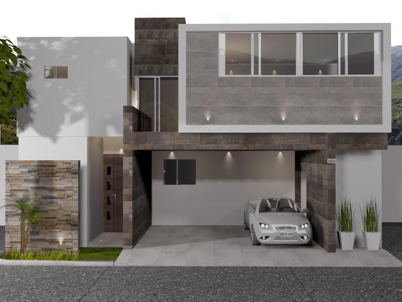 Fachada de estilo contempor neo materiales utilizados - Piedra fachada exterior ...