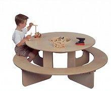 Table De Jeux Ronde En Bois Table De Jeux Enfant