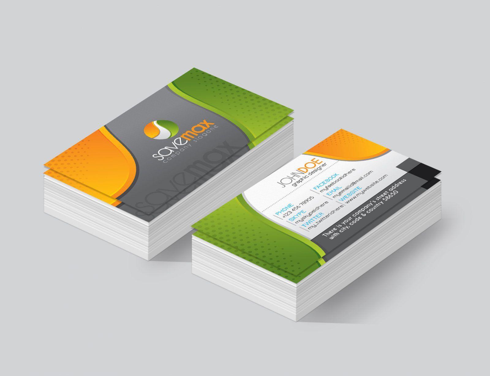 Omaha Premium Corporate Business Card Template 001445 | Corporate ...