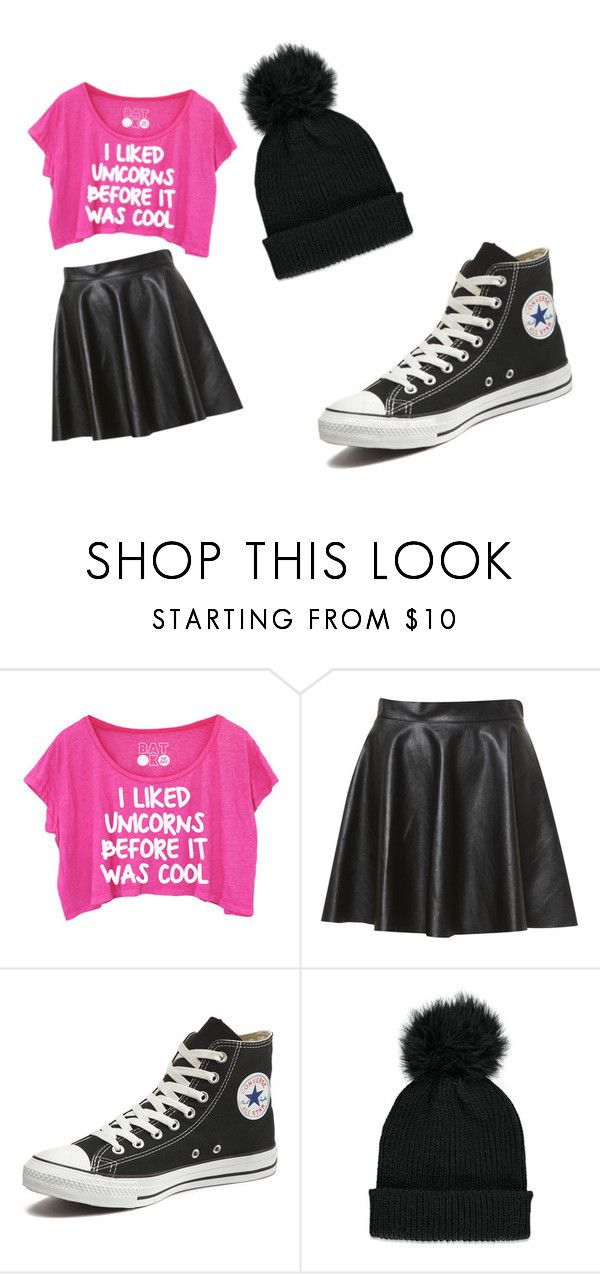 """funky chick"" by ivyfaustine ❤ liked on Polyvore featuring Converse and Forever 21"