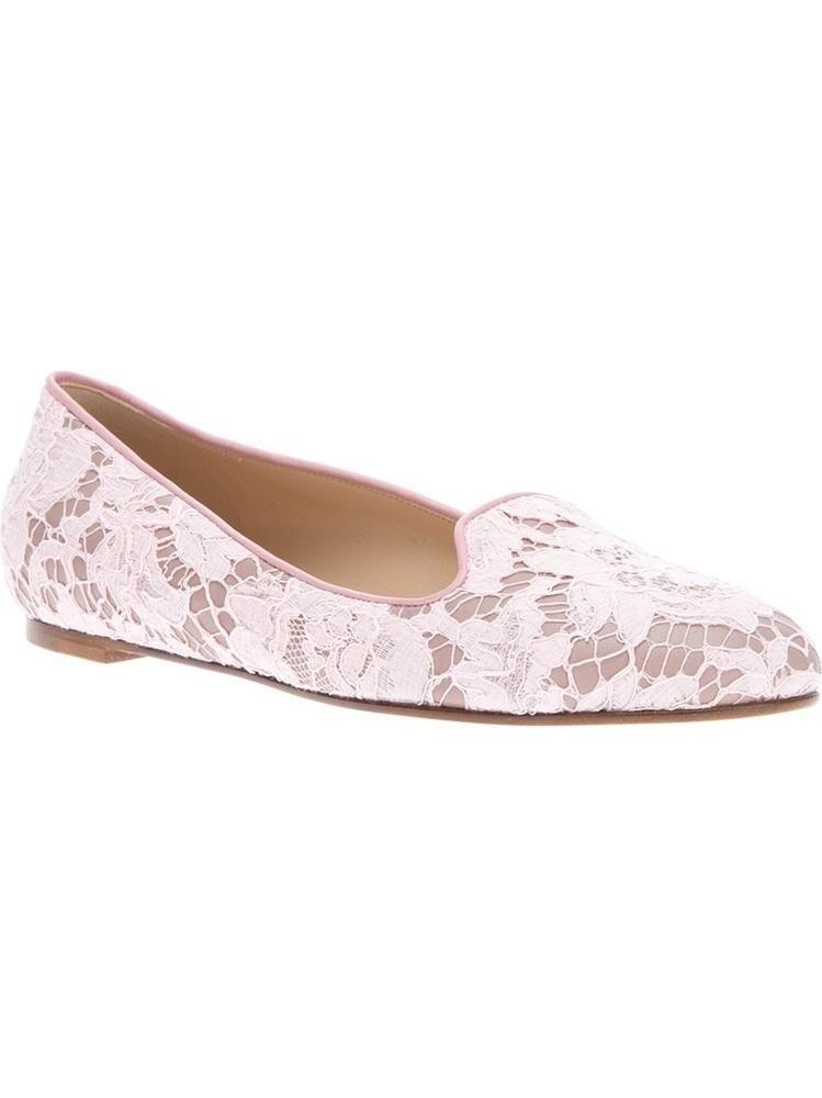 Valentino Garavani #designer #style #fashion #clothing #accessories #shoes #slippers lace print
