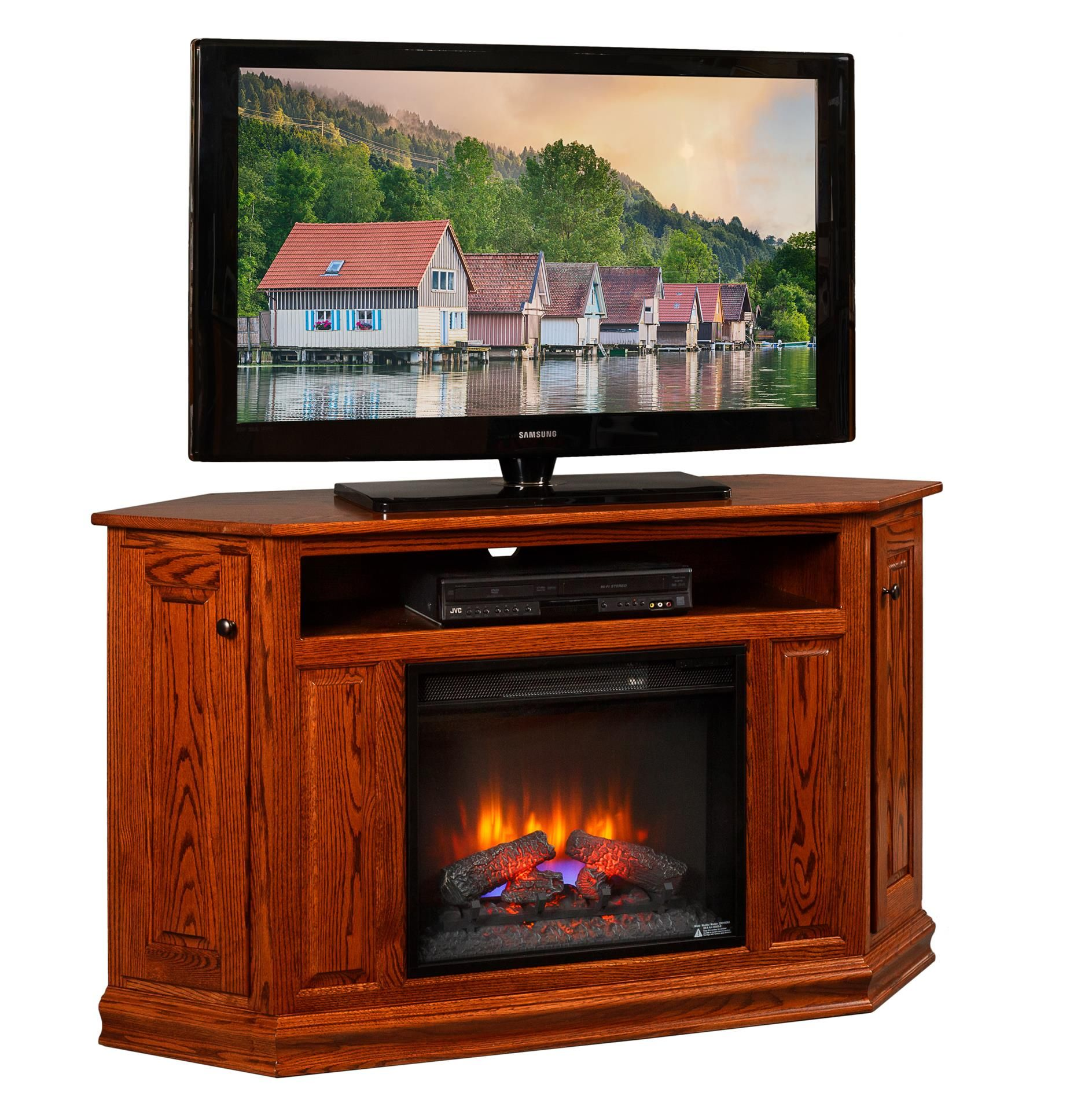 Tremendous Amish Corner Tv Console With 23 Insert Handcrafted Interior Design Ideas Apansoteloinfo