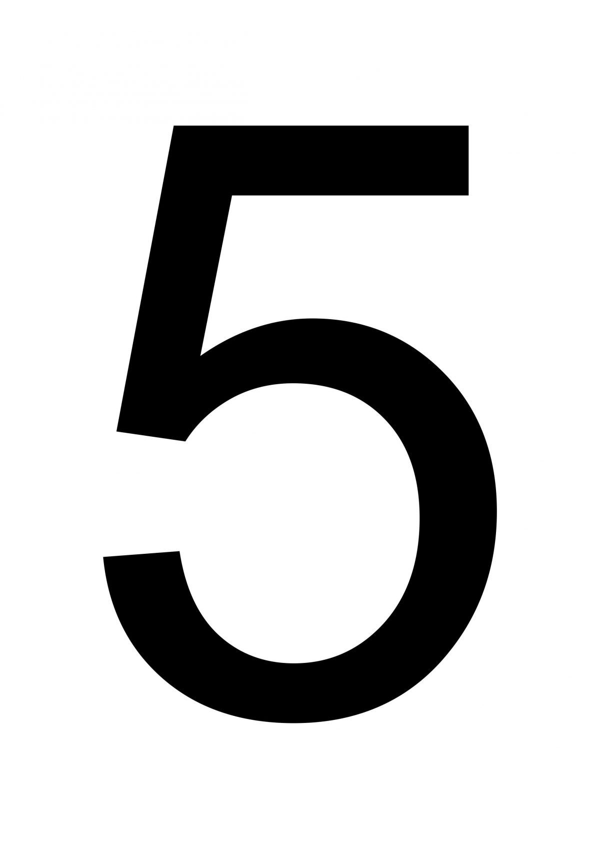 photograph about Large Solid Printable Numbers known as Substantial Printable Amount 5 Substantial printable figures Free of charge