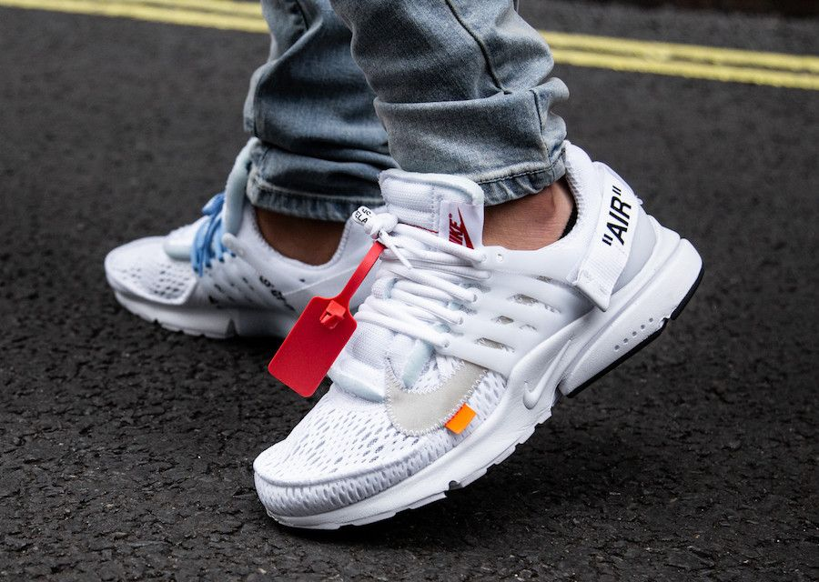 Look Closer The Off White X Nike Air Presto In White Wassupkicks Nike Air Presto White Off White Shoes Sneakers Men Fashion