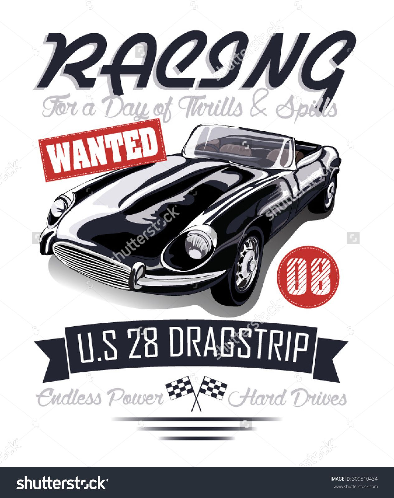 vintage race car for printingrace postert shirt graphicsvintage