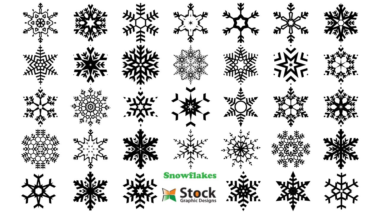 Christmas Snowflakes Vector Photoshop Brushes Stock Graphic Designs Christmas Vectors Christmas Snowflakes Free Vector Art