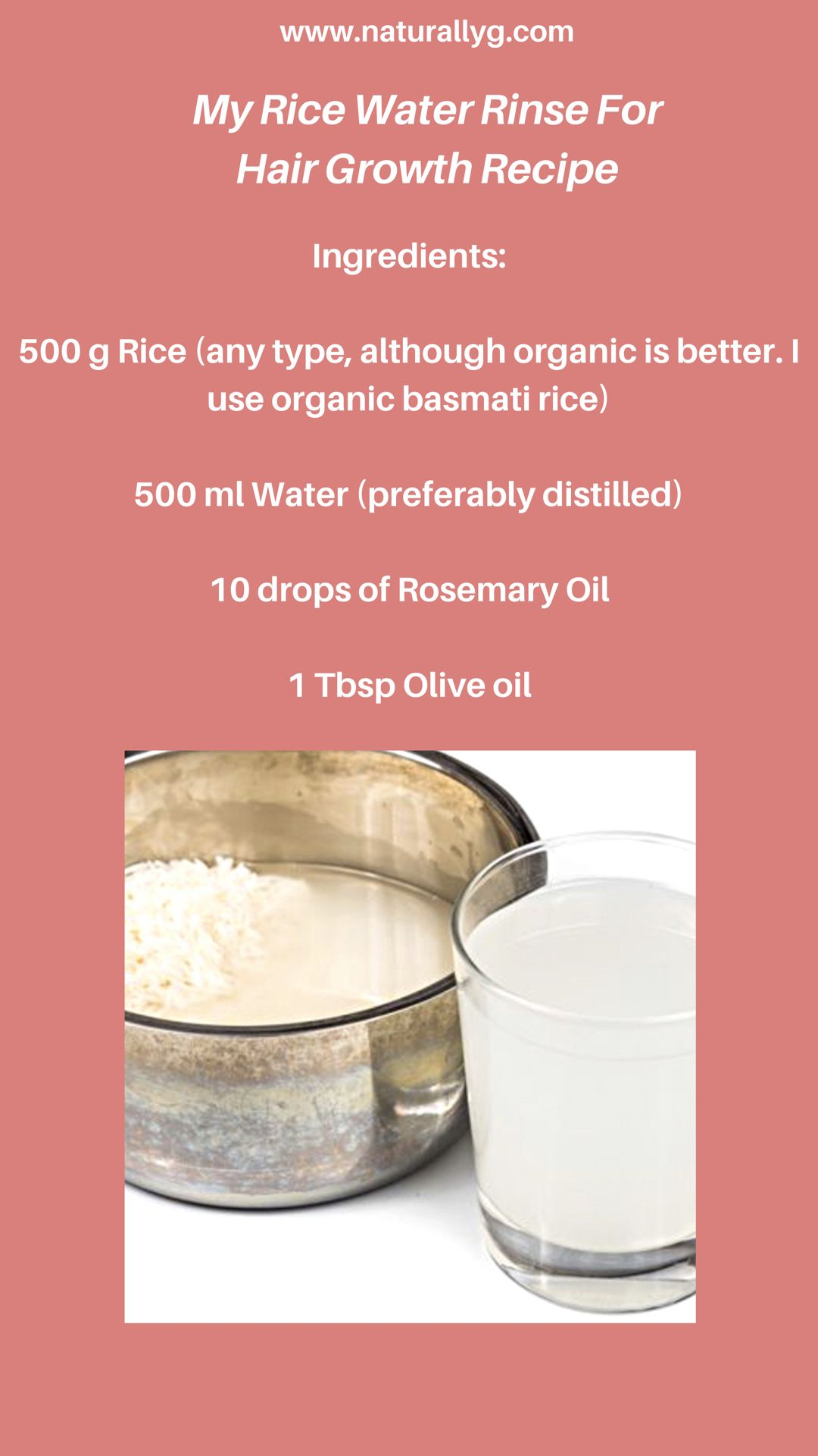Has Rice Water Helped My Natural Hair Grow Longer Plus How To Make And Use Your Own Rice Water Rinse Hair Growth Foods How To Grow Natural Hair Hair Growth Gummies