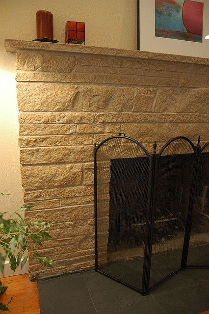 Painted Stone Fireplace Cheap Makeover For That Ugly Stone