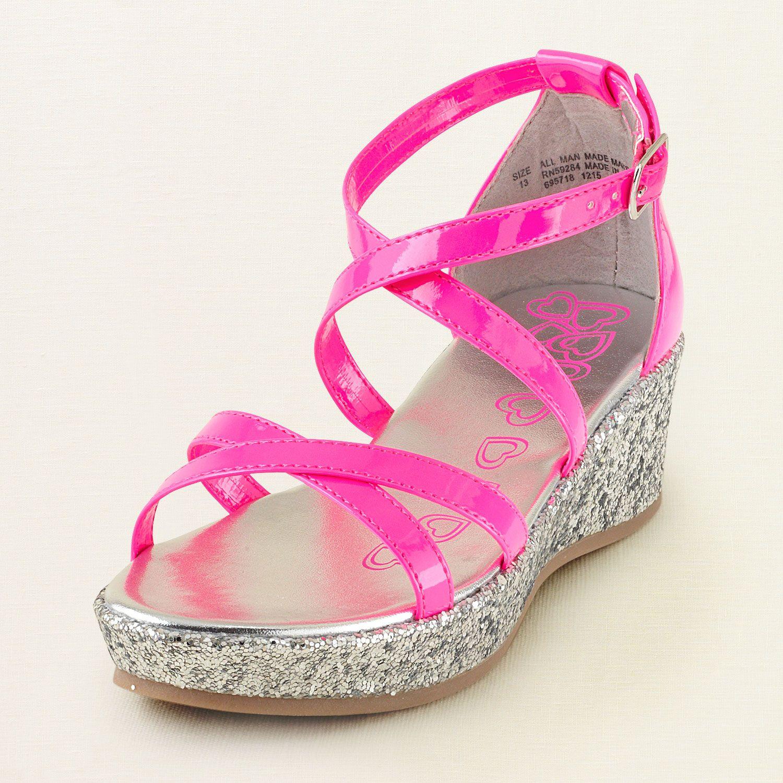 girl - shoes - sparkle platform sandal   Children's Clothing   Kids Clothes    The Children's · Pageant ShoesGlitter High HeelsLondon ... - New 2015 Children Princess Sandals Kids Girls Wedding Shoes High
