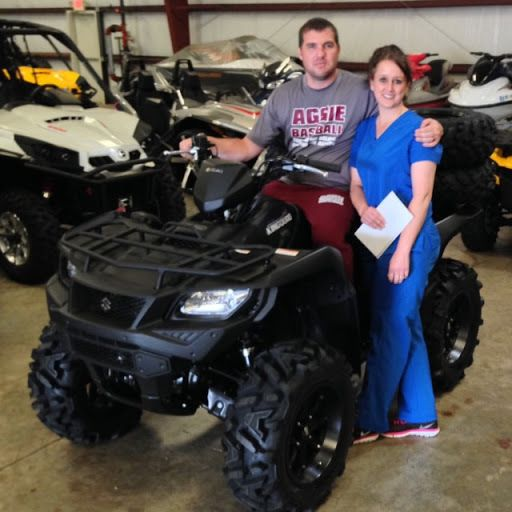 Thanks to Jesse and Tara Norman from Hattiesburg MS for getting a 2016 Suzuki King Quad 4x4AXi at Hattiesburg Cycles