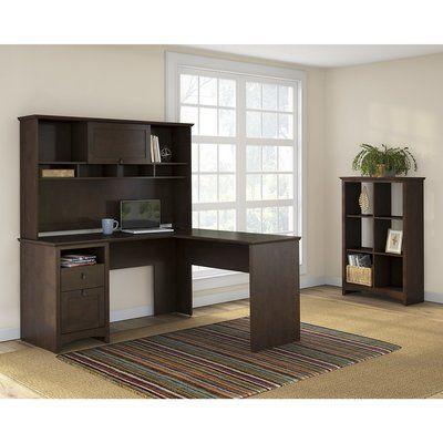 Darby Home Co Buena Vista Egger Executive Corner 3 Piece L-Shape Desk Office Suite