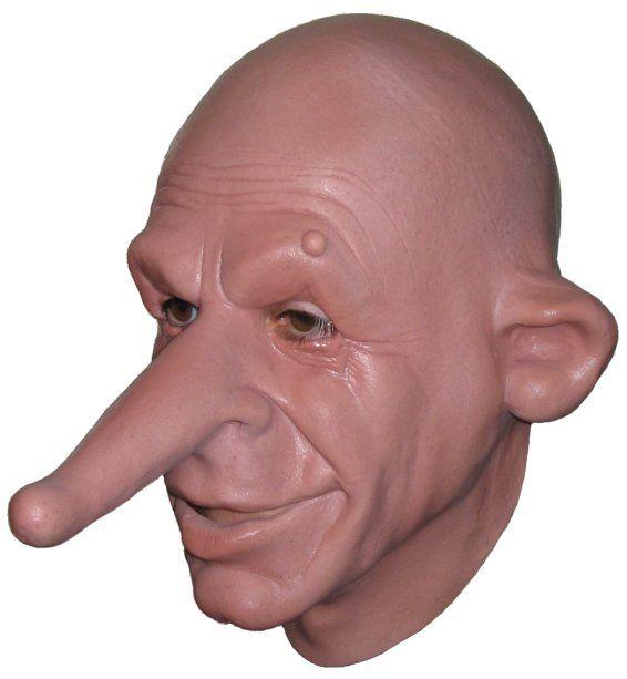 Nosey Big Nose Pinocchio Fancy Dress Halloween Costume Makeup ...