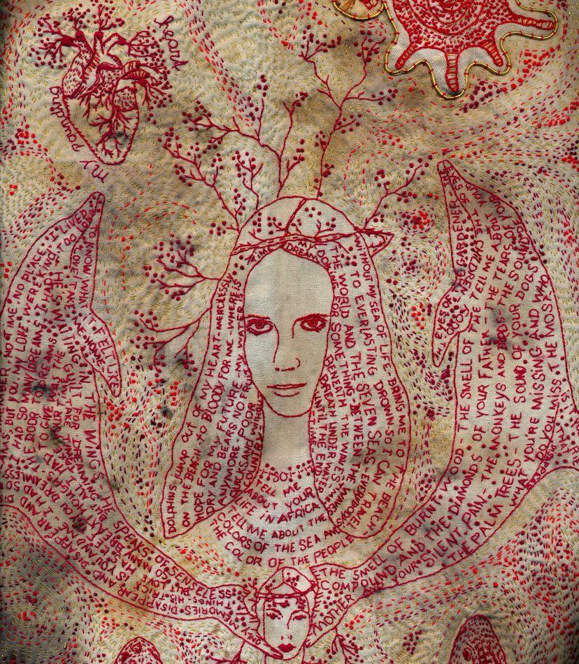 Collages Textiles Mystiques Petits Potins Cousus Main