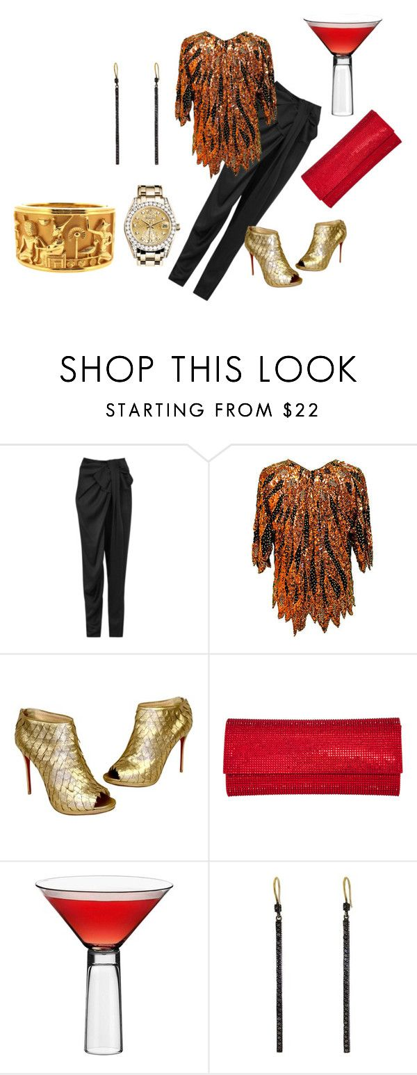 """""""Untitled #5151"""" by billyblaze ❤ liked on Polyvore featuring Lanvin, Christian Louboutin, Judith Leiber, Barbuzzo, Yossi Harari and Rolex"""