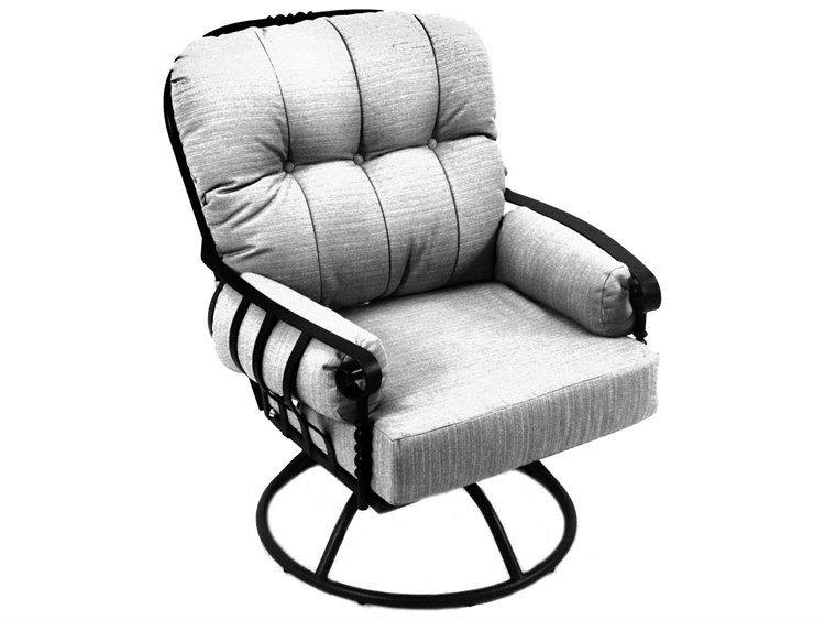 Meadowcraft Athens Deep Seating Wrought Iron Swivel Rocker Lounge