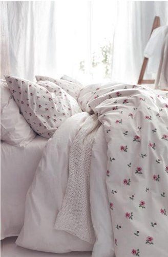 Ikea Emelina Knopp King Size Duvet Cover And 2 Pillowcases Set Roses Bedding Bath