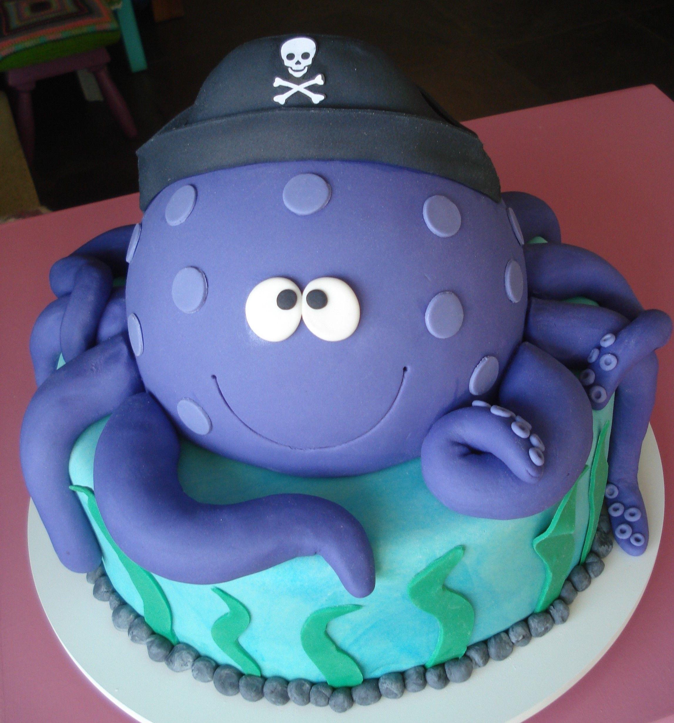 ocean cakes birthday Two tier ocean theme first birthday cake