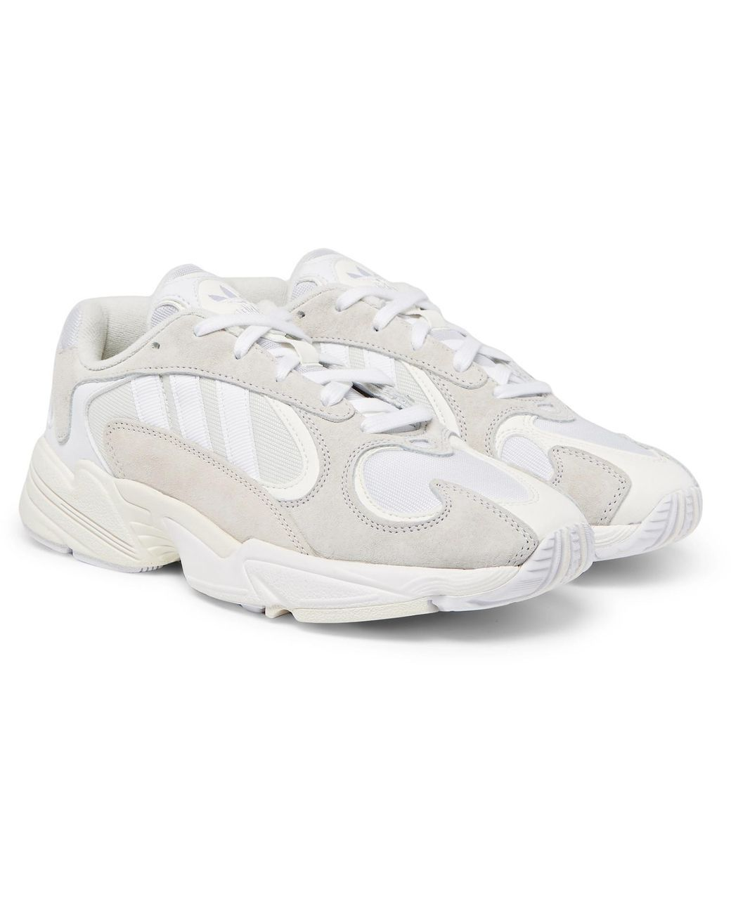 Adidas Originals - White Yung 1 Suede And Mesh Sneakers for Men - Lyst cc058b3f5