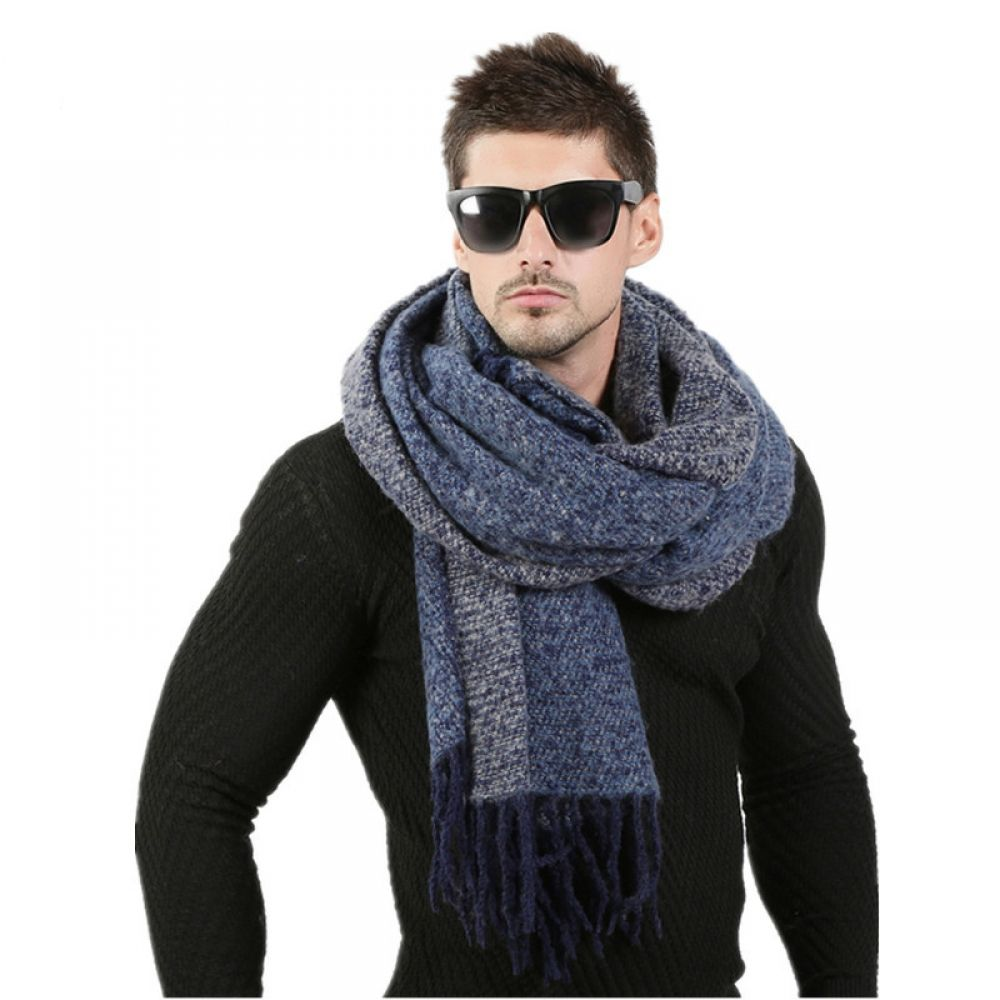 selectoneshop.com Men Fashion Knitted Scarf #mensscarves