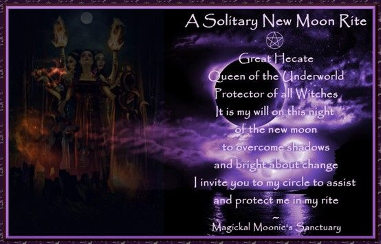 solitary new moon ritual   Spells, Charms, Pinch of this, Sprinkle