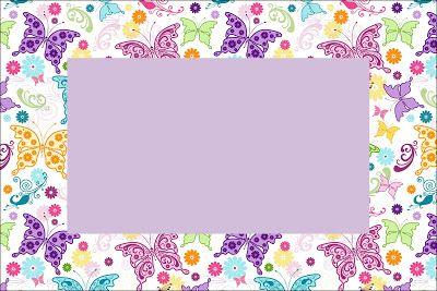 Invitaciones De Mariposas Para Imprimir Gratis Mariposas