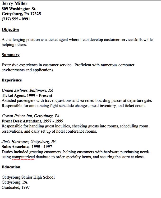 Ticket Agent Resume Example - http://resumesdesign.com/ticket ...