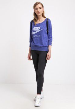 Nike Sportswear - GYM VINTAGE - Topper langermet - deep royal blue/sail