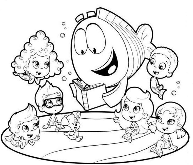 Collection Of Bubble Guppies Coloring Pages In 2020 Bubble Guppies Coloring Pages Nick Jr Coloring Pages Puppy Coloring Pages