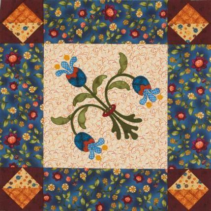 Flower Machine-Appliqué Quilts | AllPeopleQuilt.com