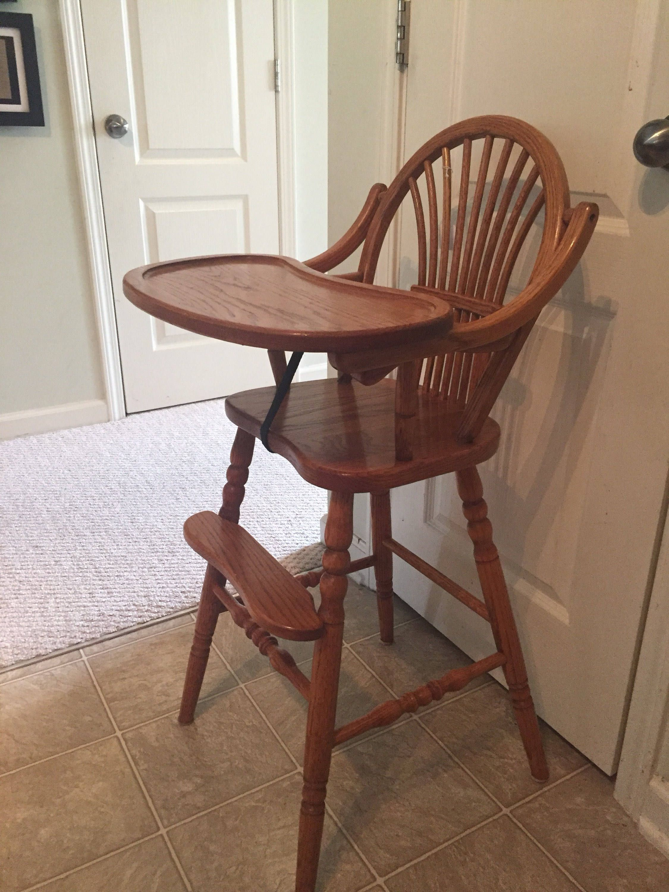 Reduced Price Vintage Wooden High Chair Jenny Lind