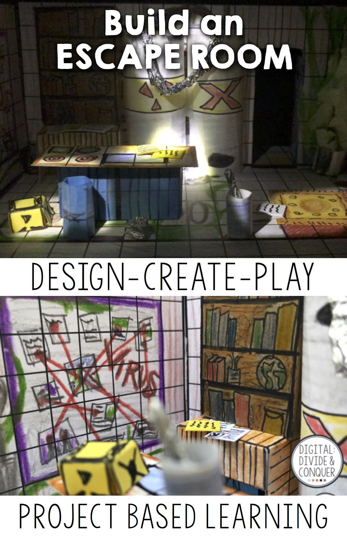 Design Your Own Bedroom Game Build Your Own Escape Room A Project Based Learning Activity Pbl