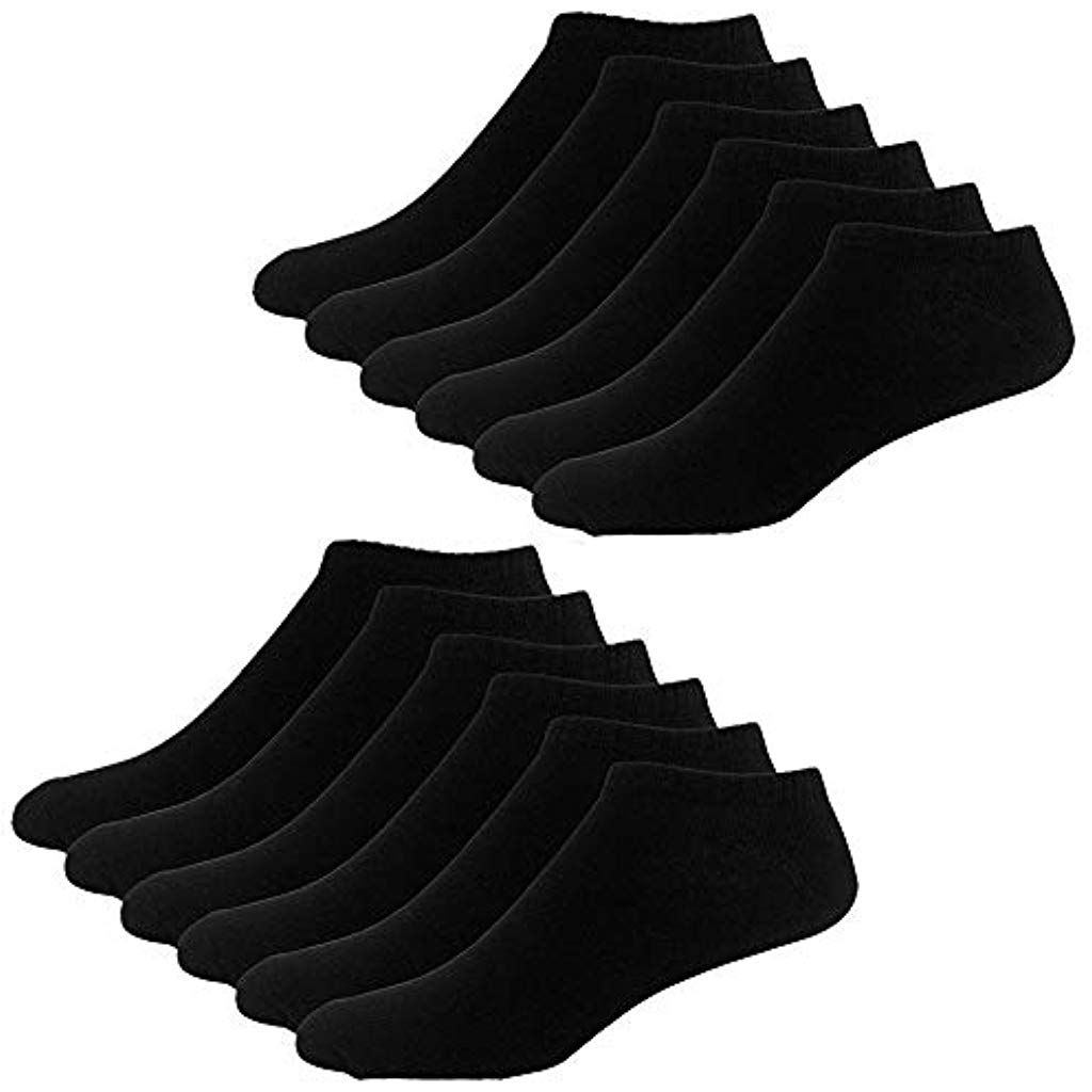 FALARY Sneaker Socken Herren Damen 12Paar Kurze Halbsocken Baumwolle