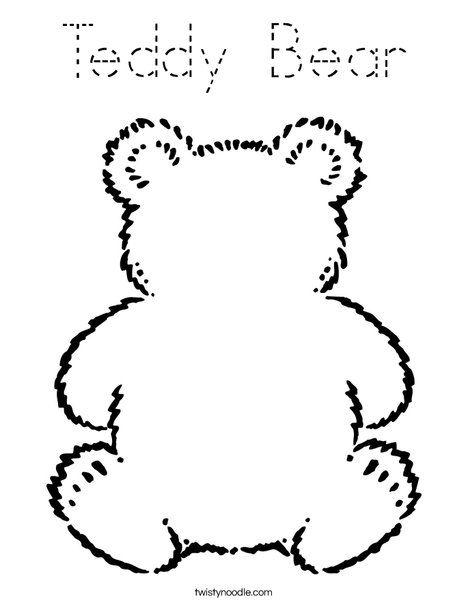 Blank Teddy Bear Coloring Page Teddy Bear Coloring Pages Bear Coloring Pages Teddy Bear Day